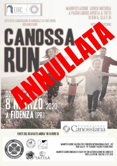 La Canossarun si ferma, la speranza continua a correre!
